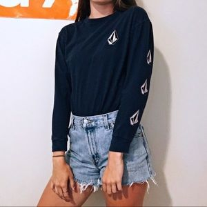 VOLCOM NAVY BLUE LONG SLEEVE